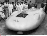 British racing driver John Cobb in his Railton Special racing-car. He achieved a new speed record (563,58 km/h) at the Bonneville Salt Flats (USA) on September 5th 1938. London (Great Britain), July, 8th 1938,  © IMAGNO/Austrian Archives (S)